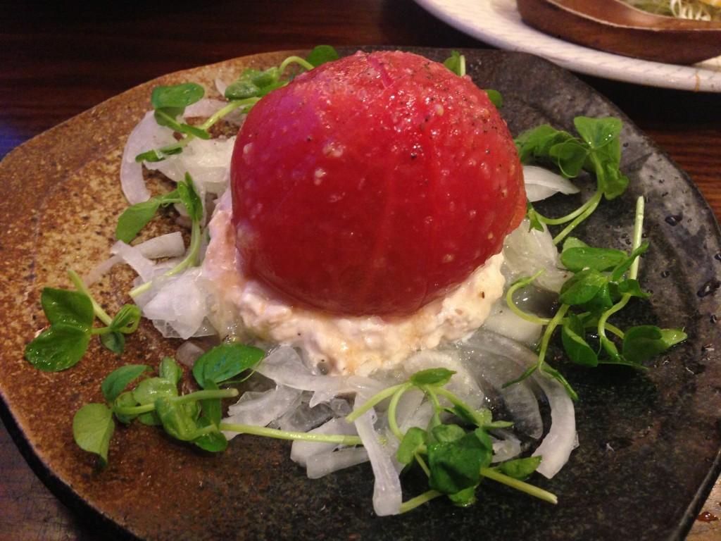 豊洲 豚道楽 トマト