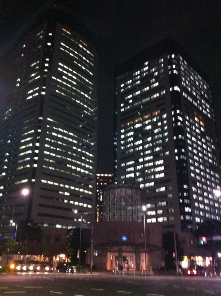 豊洲駅前からの夜景