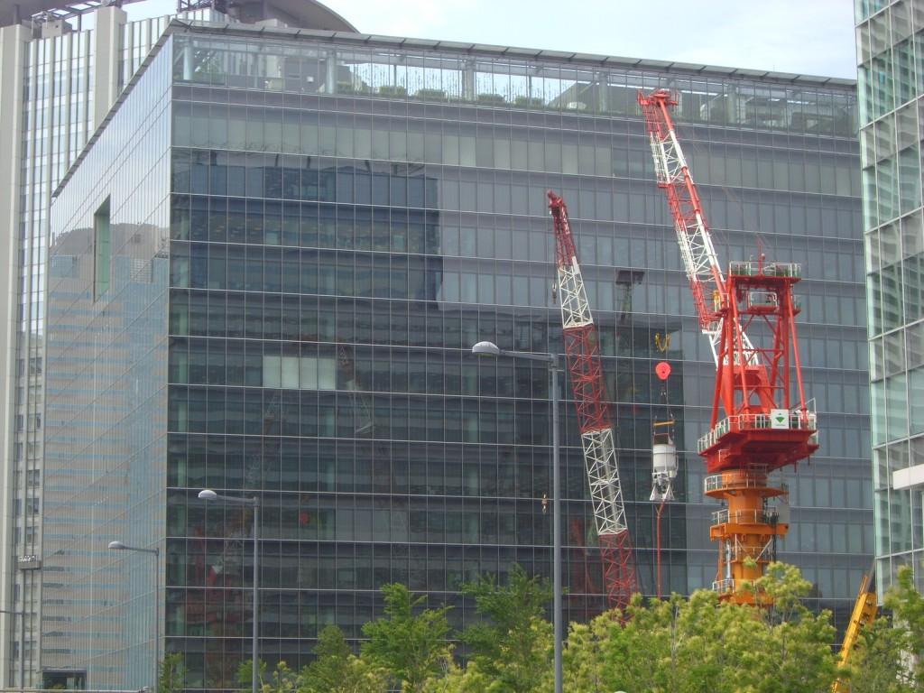 豊洲駅前の風景