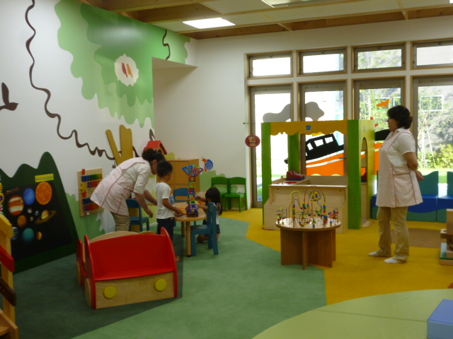 まちなみ公園の託児サービス