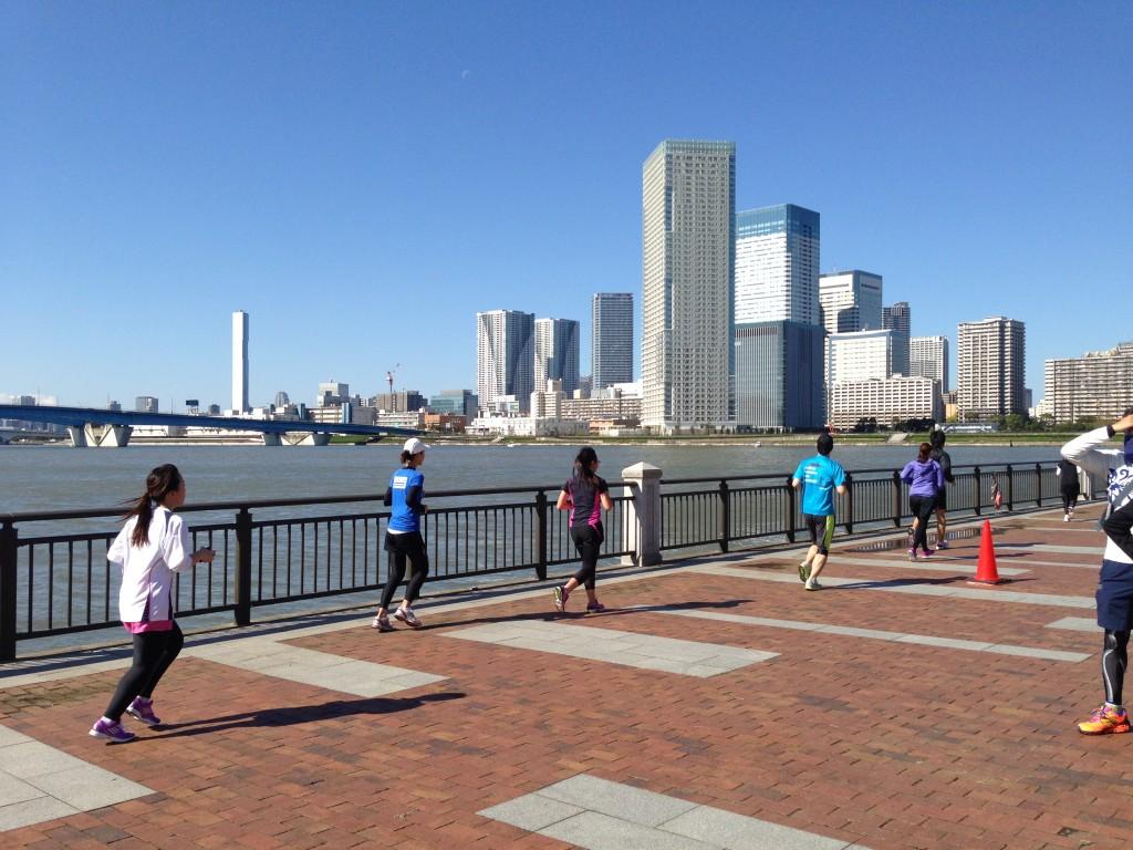 第4回豊洲マラソンの風景