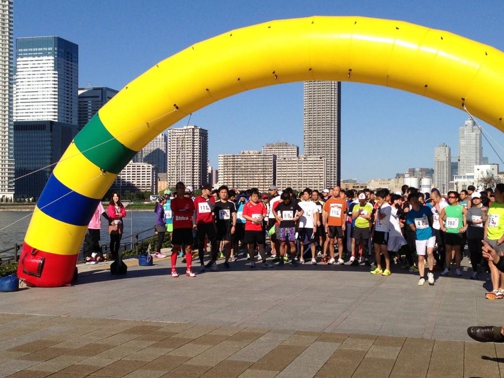 第4回豊洲マラソン大会のスタート地点の様子