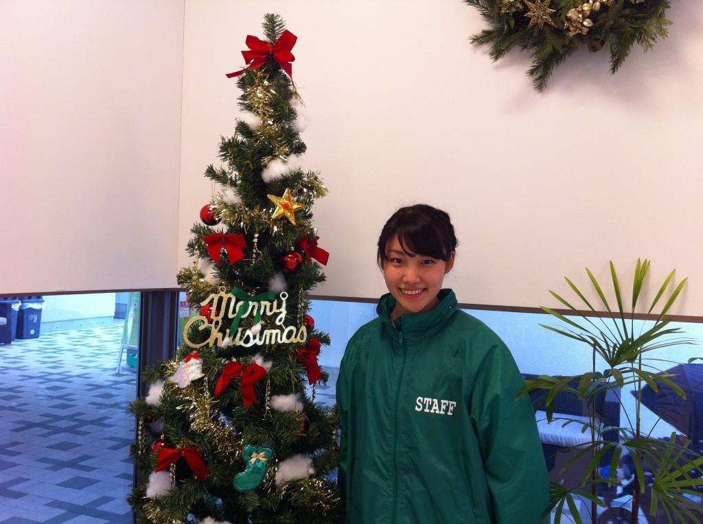 まちなみ公園のクリスマスツリー