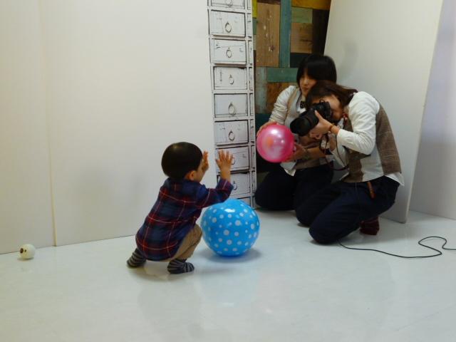 たまひよの写真スタジオでの撮影