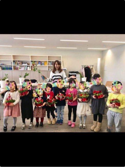 子供向けフラワーアレンジメント 木澤朋子 5 豊洲マガジン