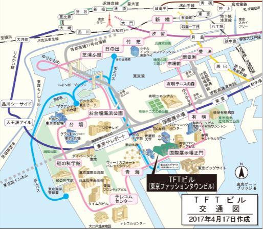地図 東京ビッグサイトTFTビル西館ホール300 豊洲マガジン